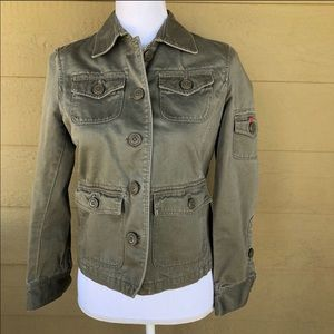 J. Crew Military Style Jacket Size PS